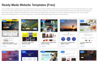 build you own website free templates