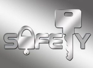 safety logo with a key website security