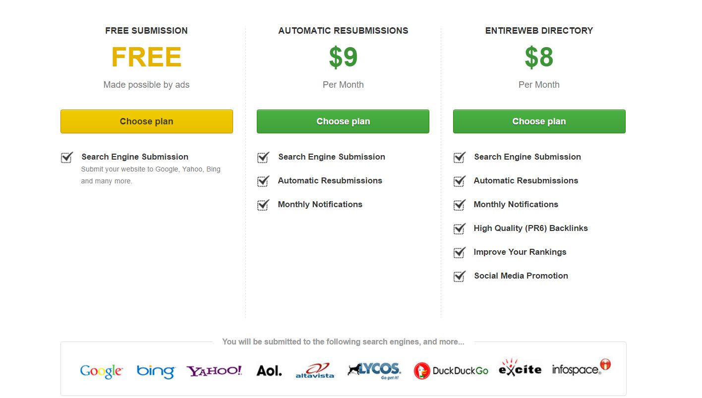 entireweb review pricing chart