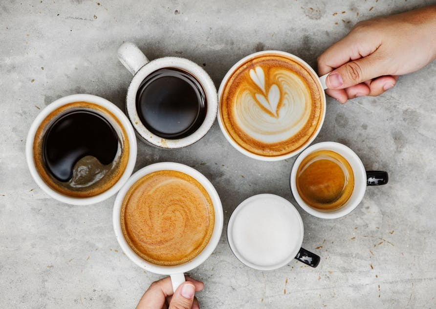 various coffee drinks in the restaurant business