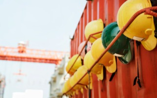 set of hard hats which are safety tips for every construction worker