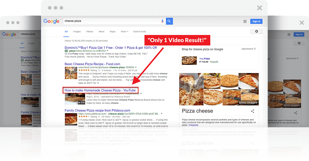 video jeet listing on google search