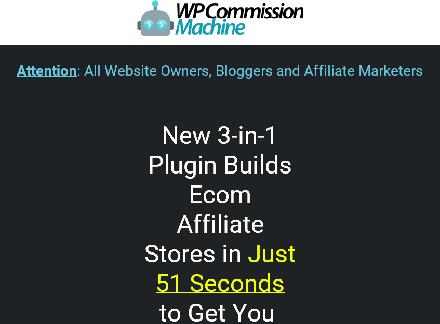 wp commission machine review ecommerce