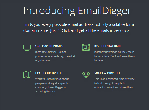 emaildigger features image