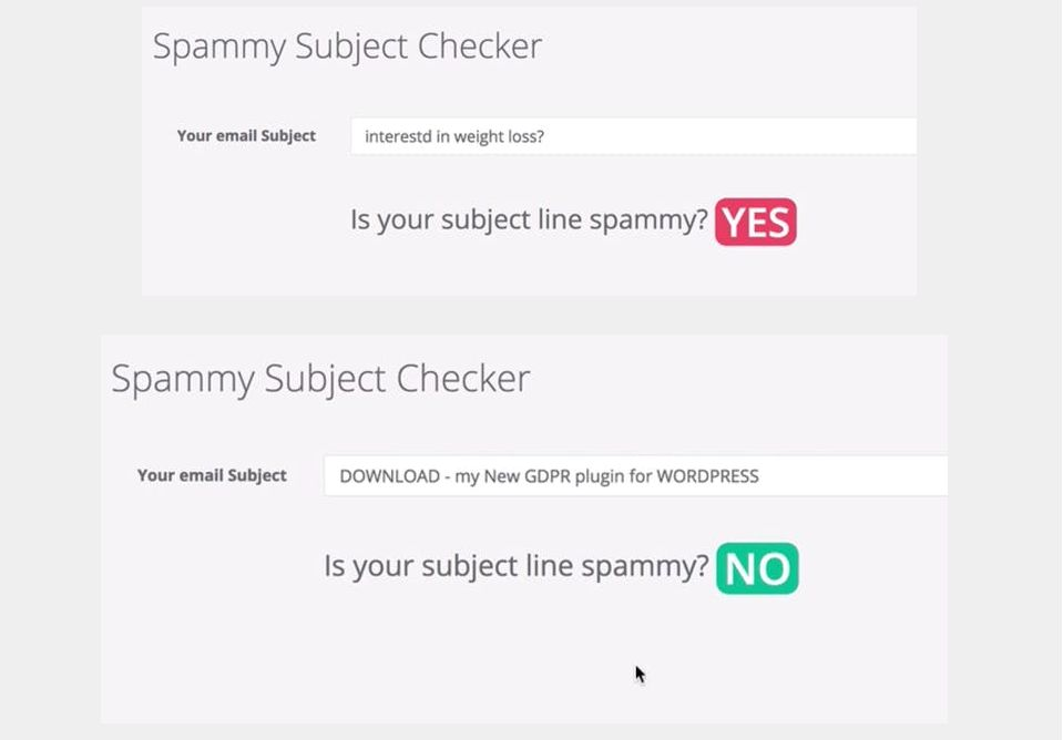 image of spammy subject checker