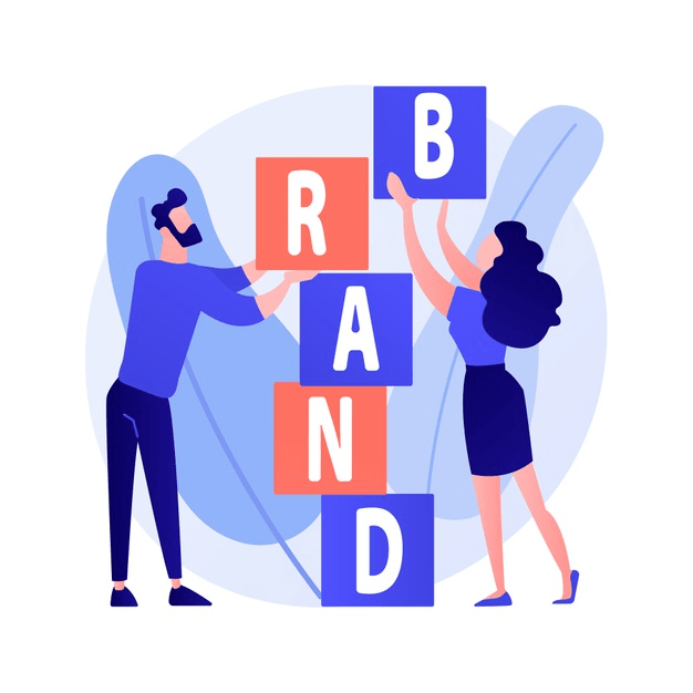 product-brand-building-corporate-identity-design-studio-designers-flat-characters-teamwork-cooperation-collaboration-company-name-concept-illustration how to create a brand strategy