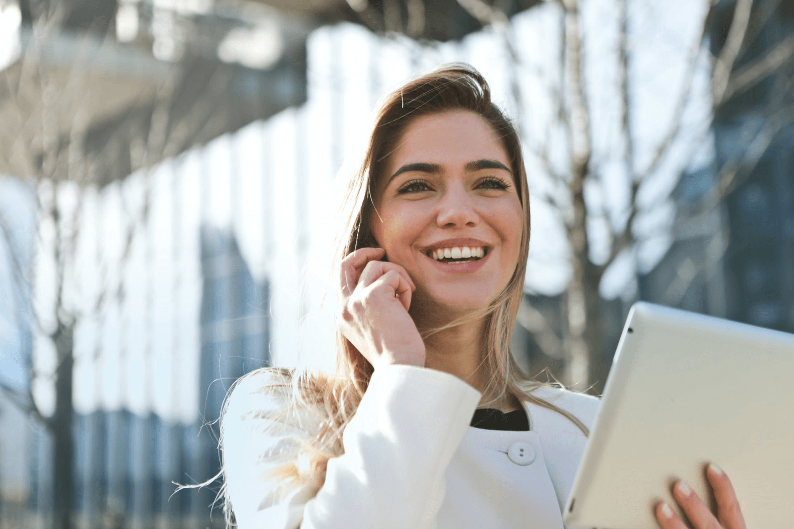 starting with your career female on a cell phone