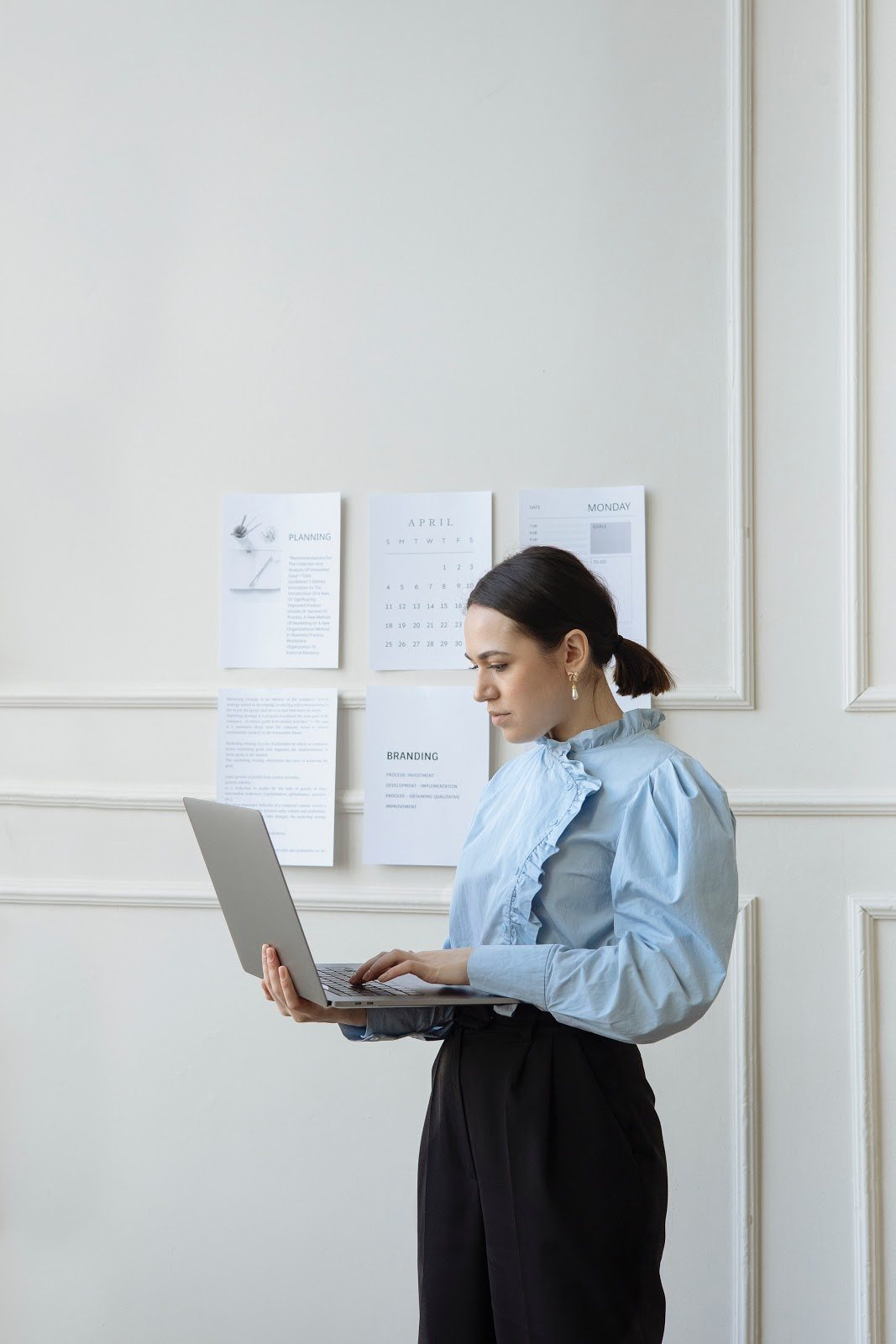 woman at open laptop the importance of your brand