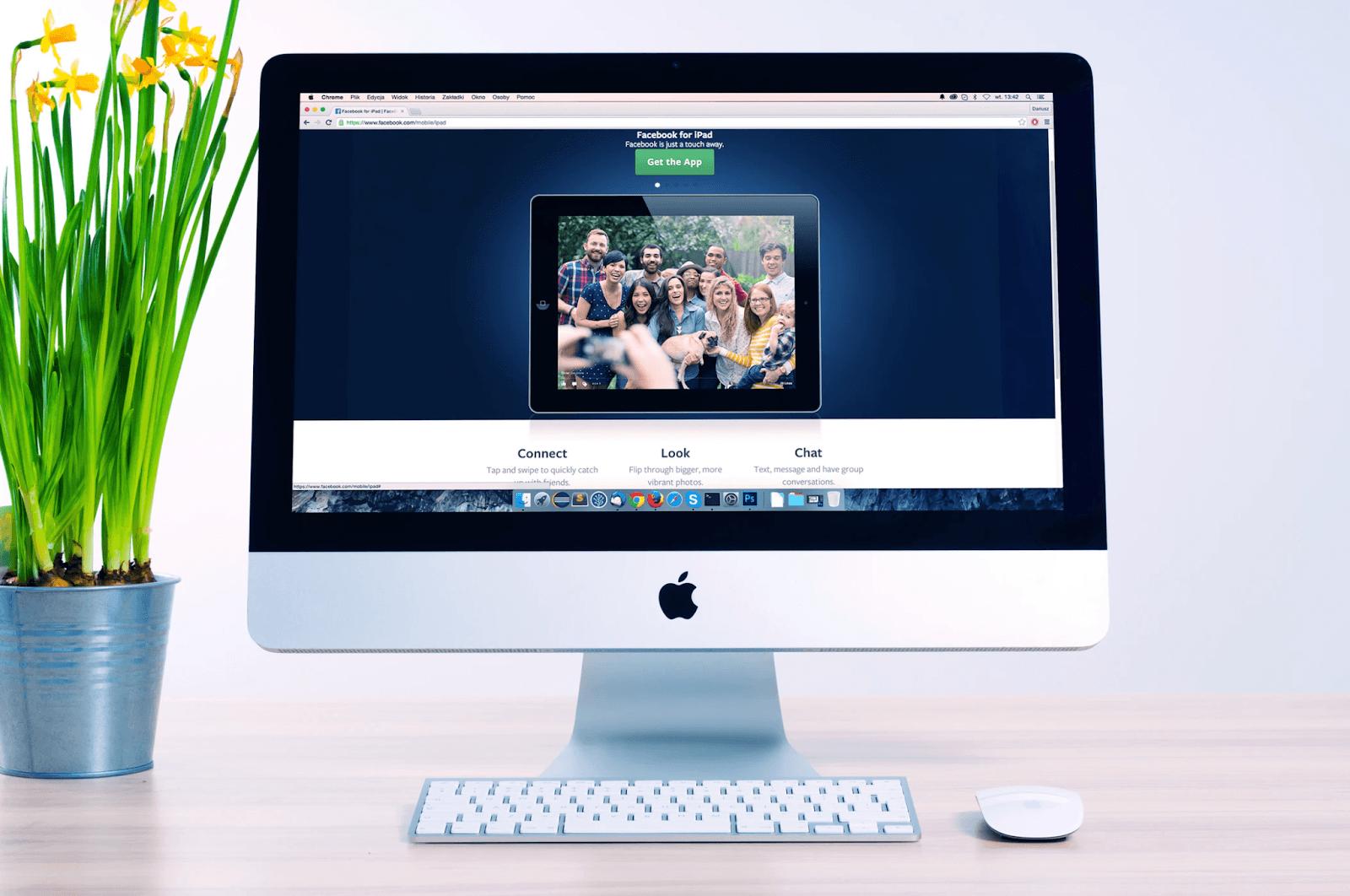 apple computer screen visit your website