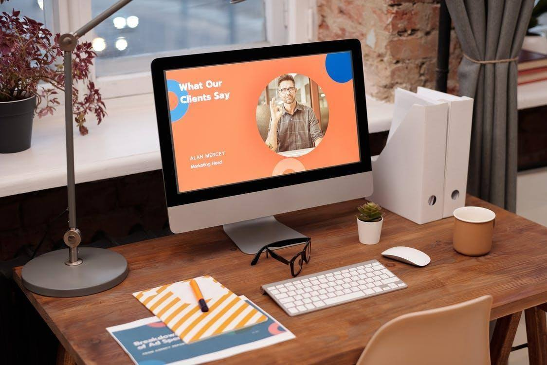 Simple Workspace at Home advertise your business